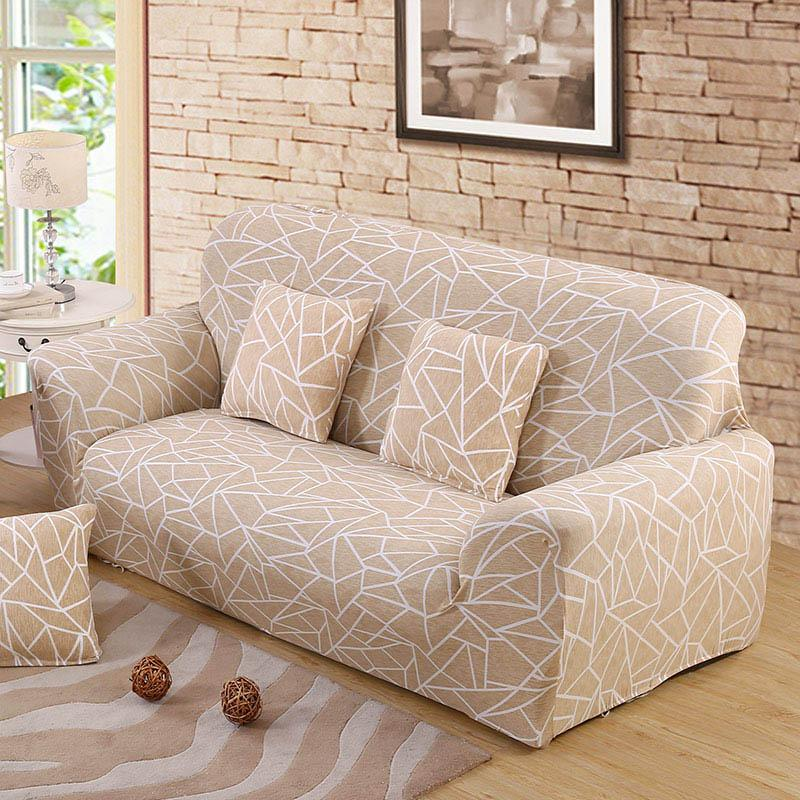 Beige Sofa Cover Stretch Furniture Covers Elastic Sofa Covers For Living Room Copridivano Slipcovers For Armchairs Couch