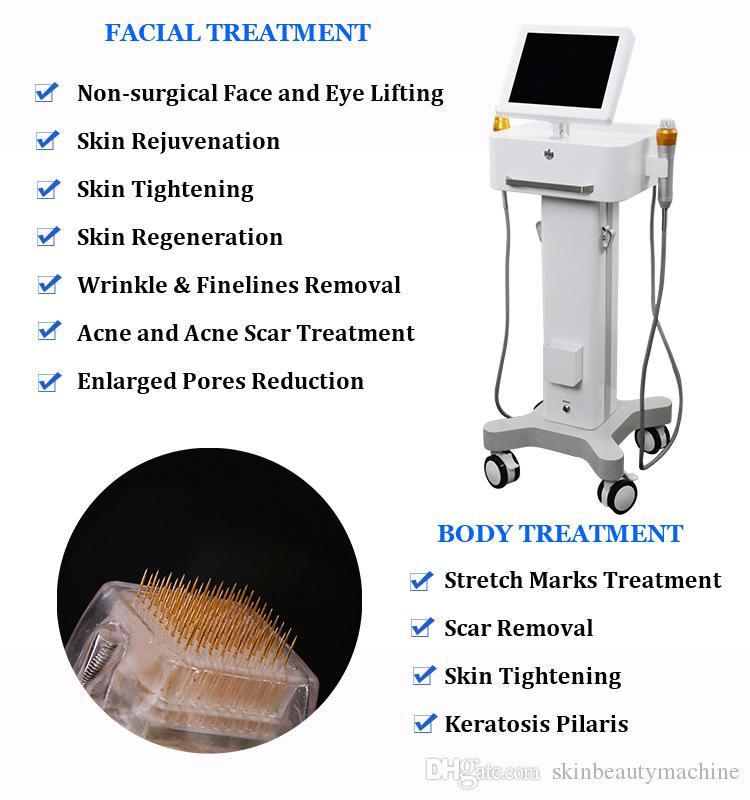 High End Microneedle Machine Fractional Rf Micro Needles Skin Tightening Anti Wrinkles 2 Handles Acne Scar Removal Thermage Machine On Sale