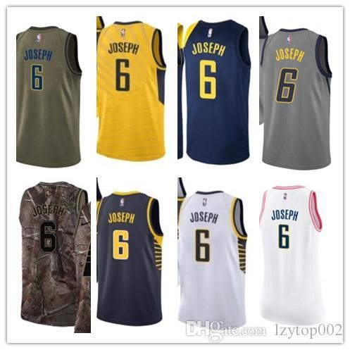 size 40 2f836 c0996 2019 custom Men/WOMEN/youth Indiana Pacer jersey 6 Cory Joseph basketball  jerseys free ship size s-xxl message name number