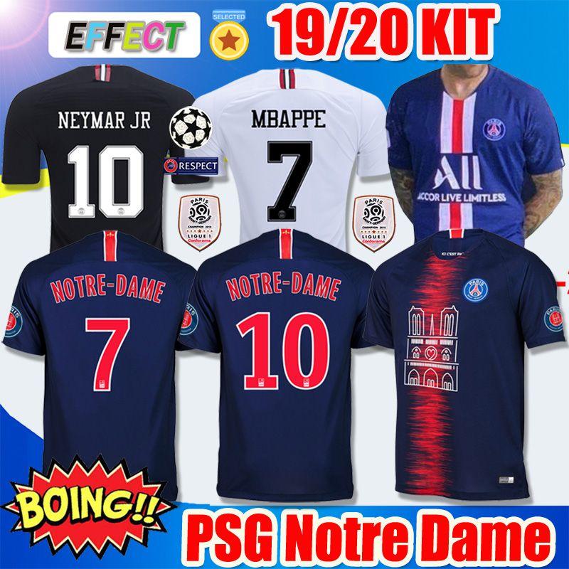 feba679962b Acheter 2018 2019 Maillot De Foot PSG Notre Dame Jordan Third MBAPPE Soccer  Jersey NEYMAR JR CAVANI VERRATTI Top Thailand 18 19 Paris Football Shirt ...