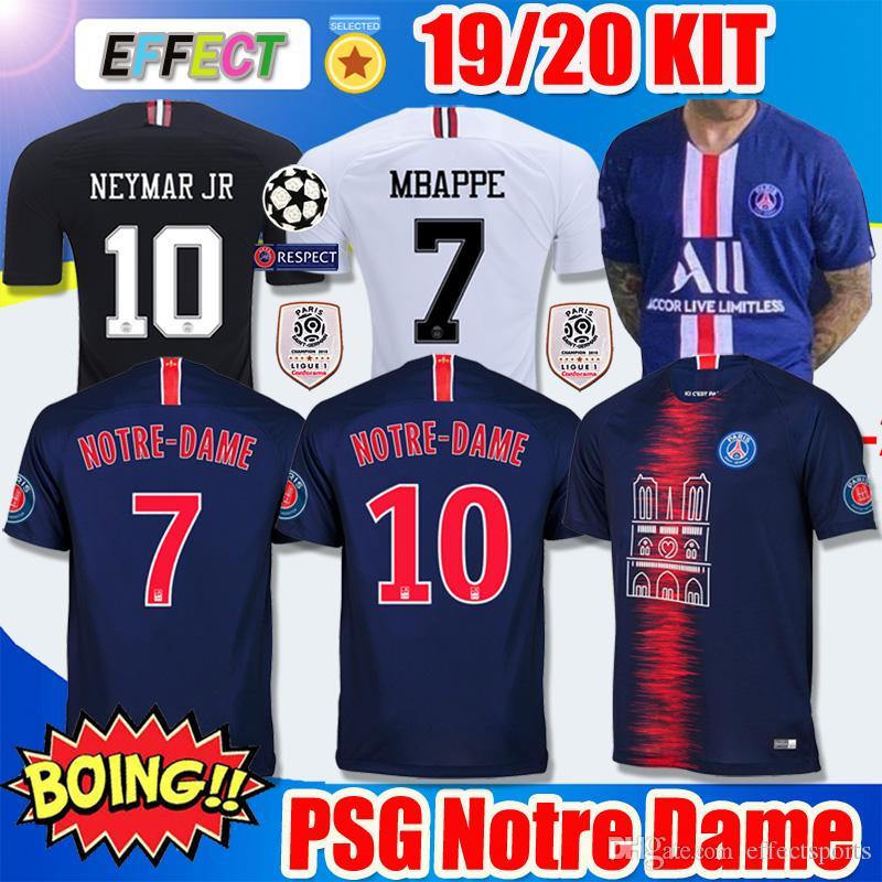 af827e7ef 2019 2019 PSG Soccer Jerseys Third Maillot Notre Dame MBAPPE 2020 Ligue 1  Champions As Club 19 20 Paris Tribute Maillot De Foot Football Shirts From  ...