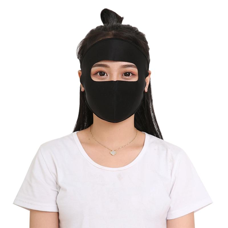 Anti UV Riding Breathable Full Face Mouth Cover Thin Dustproof Sunshade Outdoor Mask Summer Cyling Face Mask Driving Masks