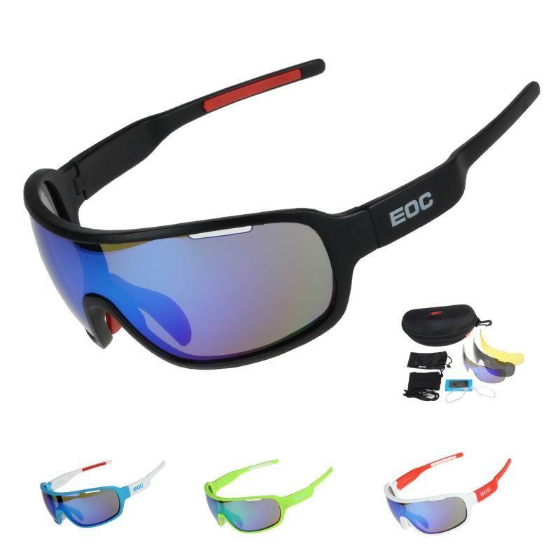 8a35561e39 Ciclismo Gafas Polarizadas Bicicleta Montar Gafas Protectoras Conducción  Pesca Deportes Al Aire Libre Gafas De Sol UV 400 5 Lentes Por  Hxlsportstore, ...