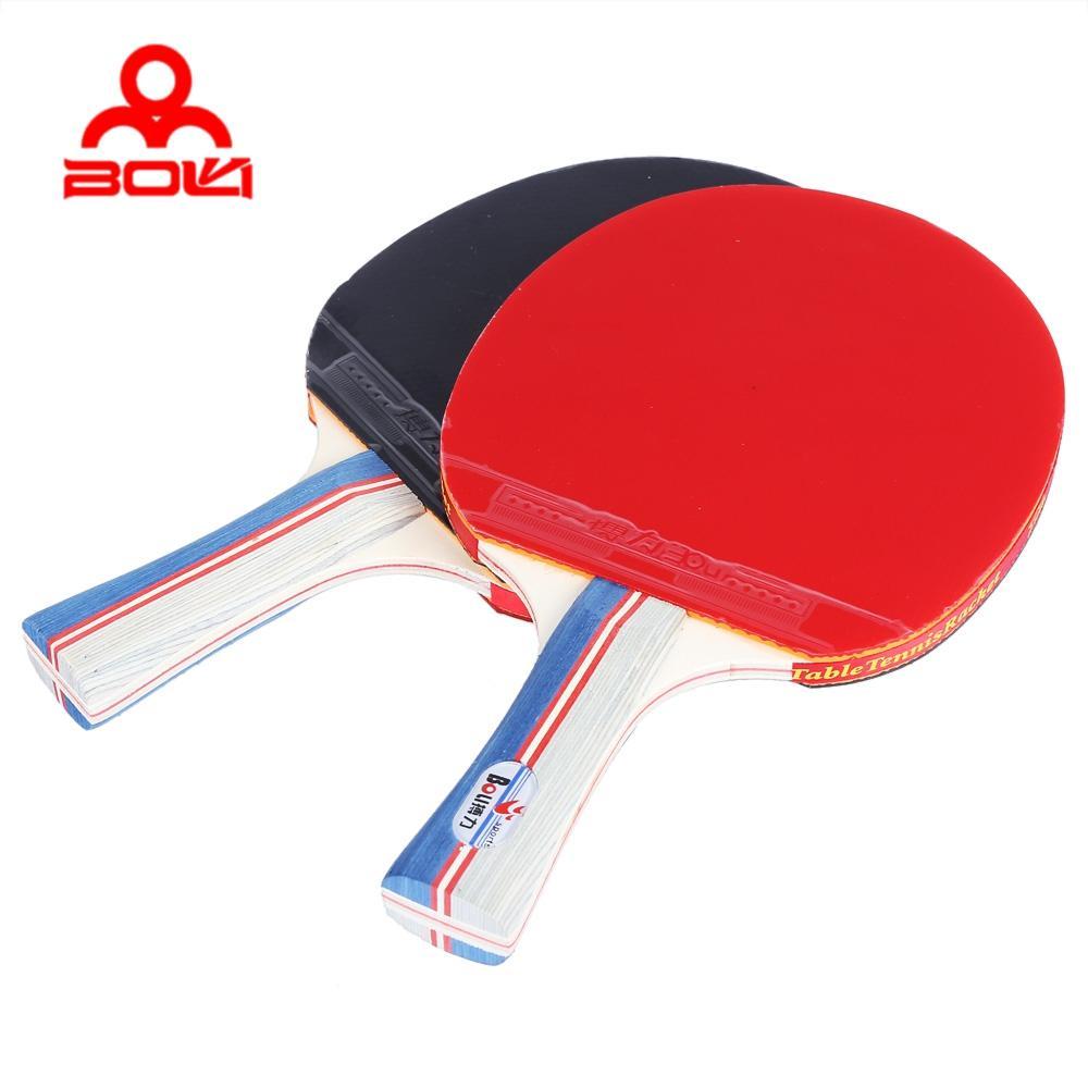 51778b9e3 Compre BOLI Tênis De Mesa Ping Pong Raquete Set Dois Pás Morcegos Três Bolas  De Xuliangxian