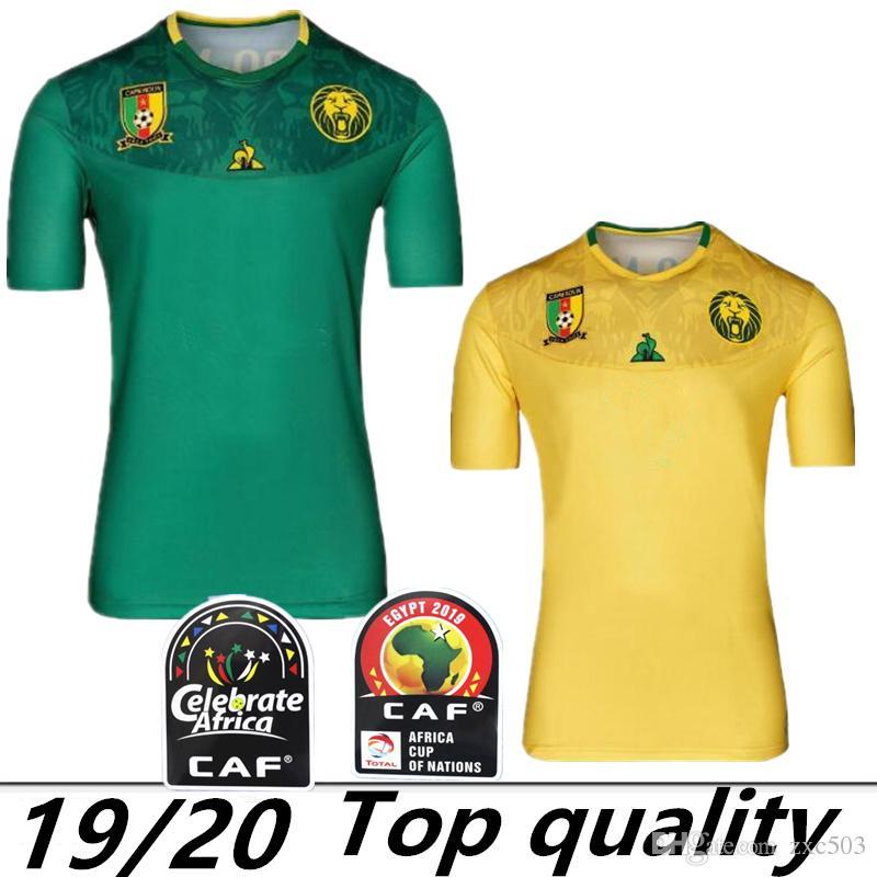 outlet store 96e60 7eda1 Africa Cup 2019 Kamerun Trikots Djoum Aboubakar Futbol Camisa Fußball  Trikots Trikots
