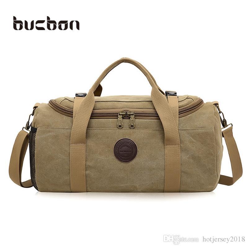 72bb5524caf5 Canvas Sports Bag Single Shoulder Travel Bag Handbag Retro Luggage ...