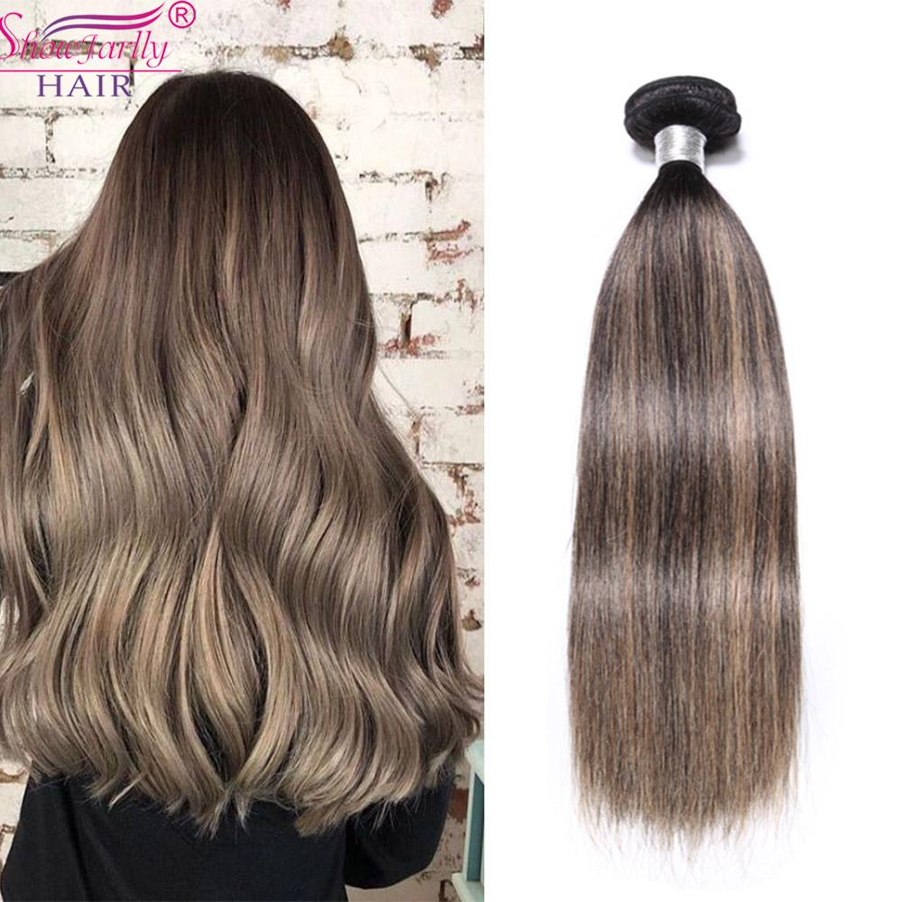 Honey Blonde Ombre Hair Weave Top Hair Brazilian Ombre 3 Bundle Cuticle Aligned Virgin F-T1b/27 Piano Color Human Hair Bundles