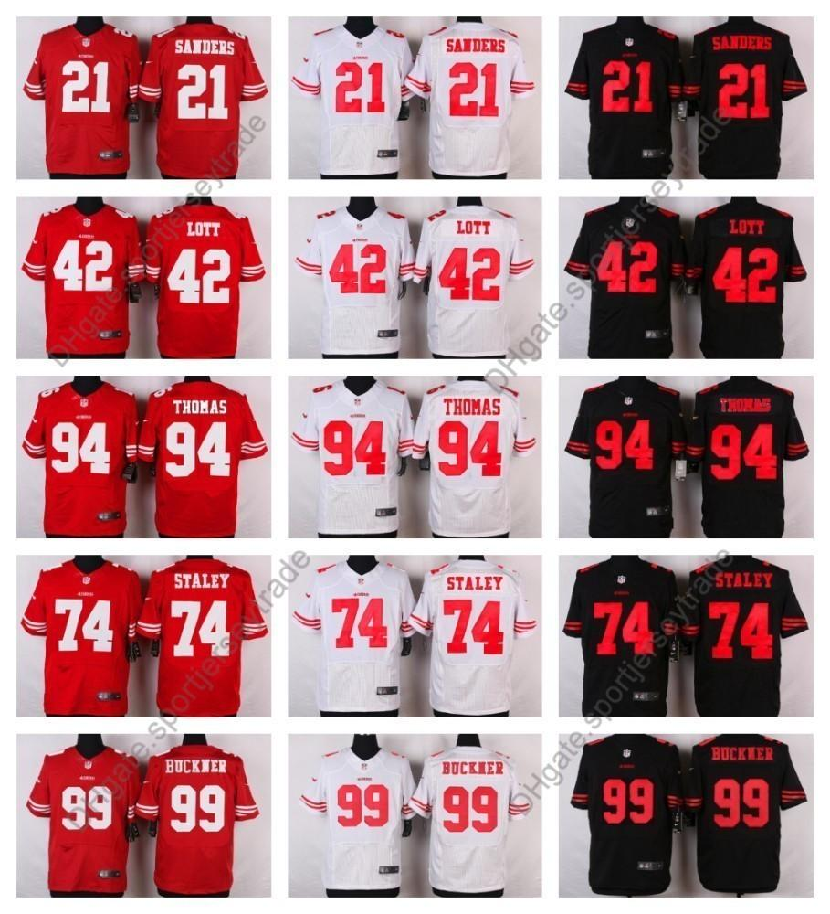 online retailer 08659 82978 Elite San Francisco 74 Joe Staley 49ers Mens Football Jerseys 99 DeForest  Buckner Jersey 94 Solomon Thomas 42 Ronnie Lott 21 Deion Sanders