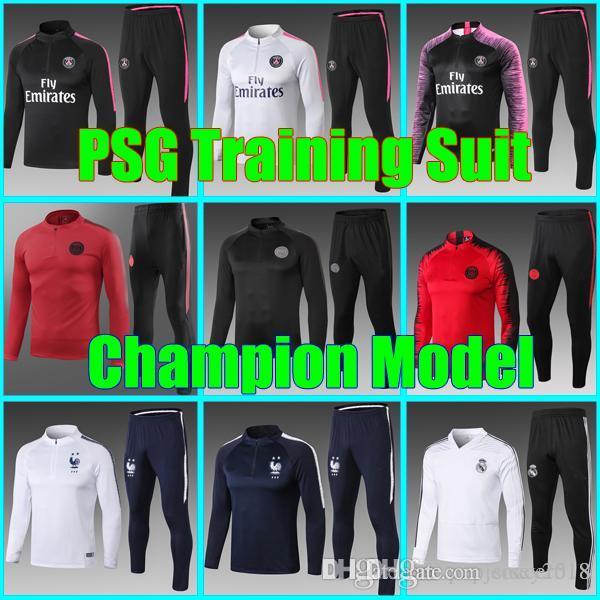 3cc4a2bda New Psg AJ Training Suit 2018 2019 Psg Soccer Tracksuit Sets Paris ...