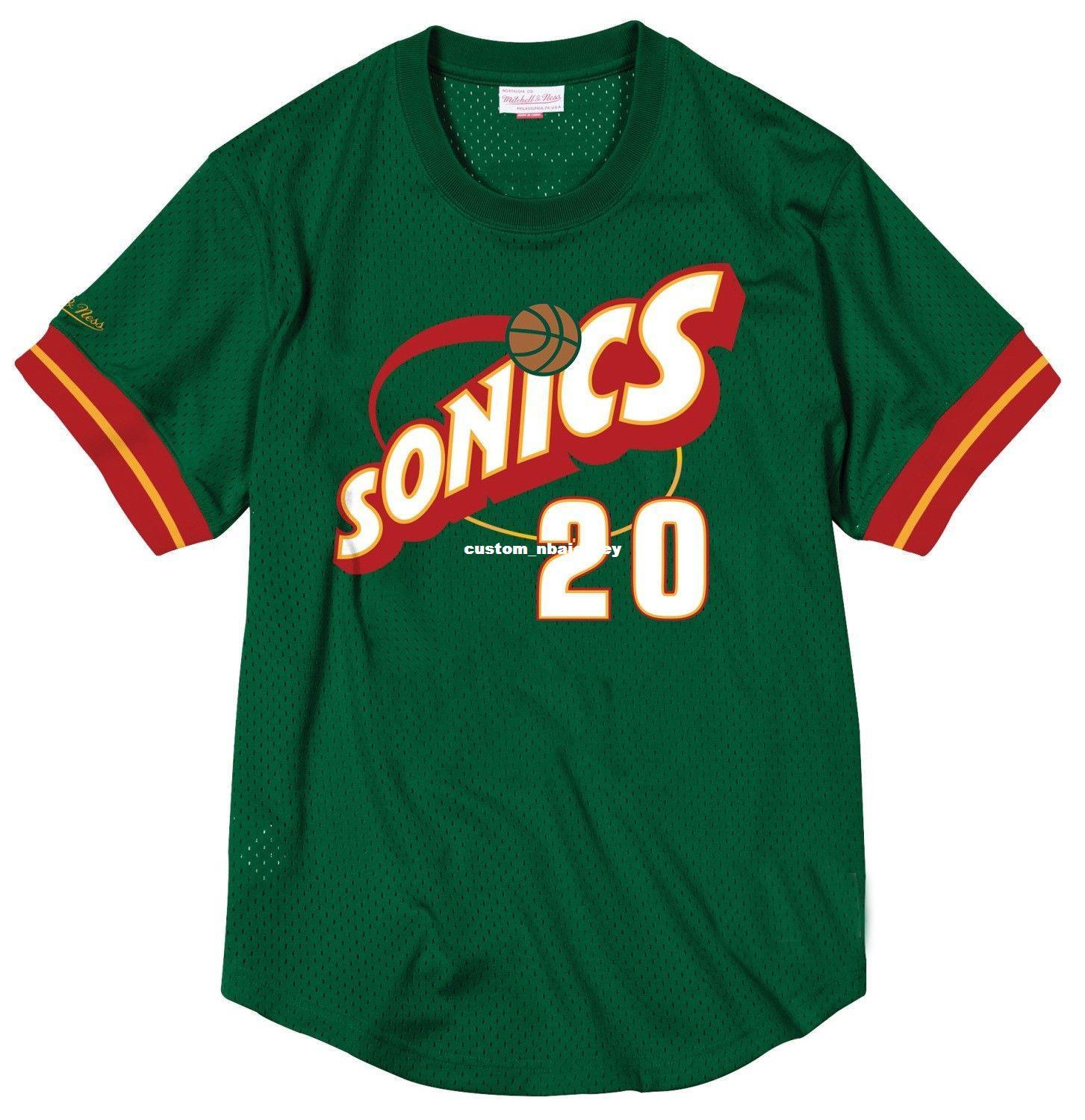 the best attitude e8a1b 3d6ff Cheap Custom Gary Payton Mitchell & Ness Men s Mesh Jersey Shirt stitched  Summer Tee Retro basketball jersey