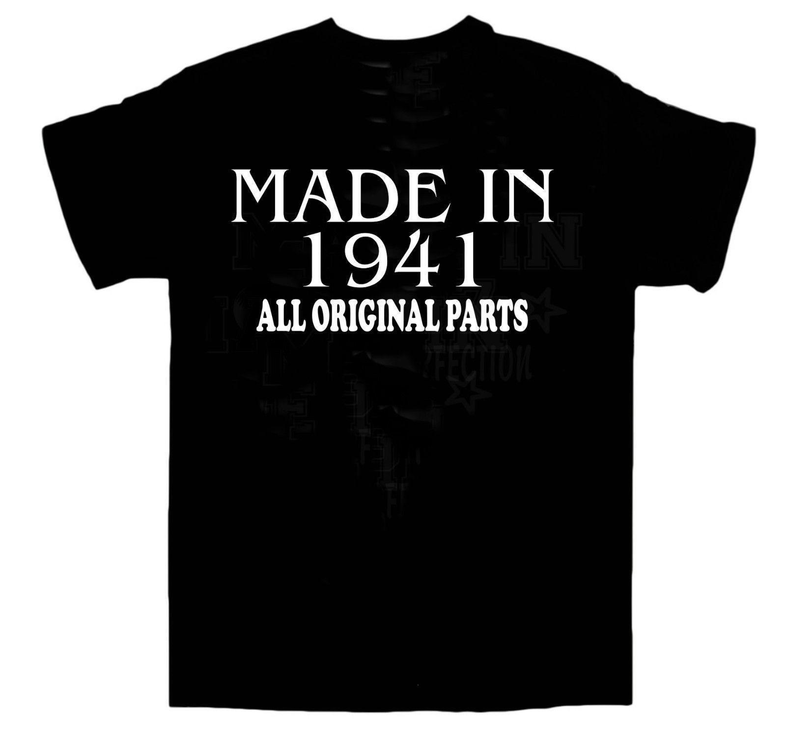 Made In 1941 BIRTHDAY T SHIRT All Original Parts Birthday Gift Idea Choose SizeALICE IN CHAINS TRI CELL BLACK Men Women Unisex Shirt Shopping