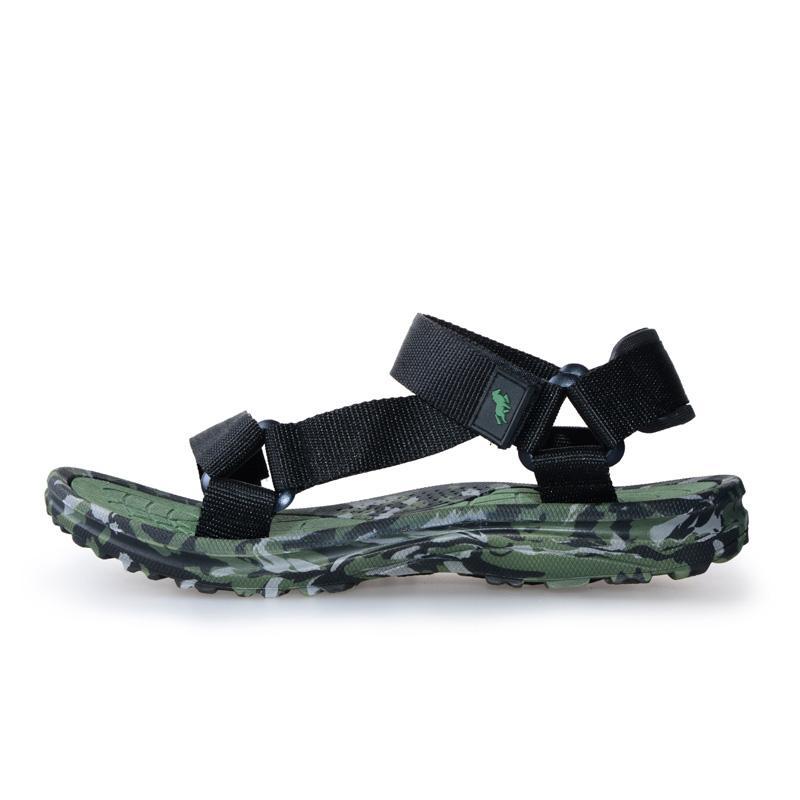 11789ece1c320c Acheter 2019 Nouveaux Hommes Sandales D'été Tongs Pantoufles Plage En Plein  Air Chaussures De Sport Pas Cher Homme Sandales Vert D'eau Bleu Confortable  De ...