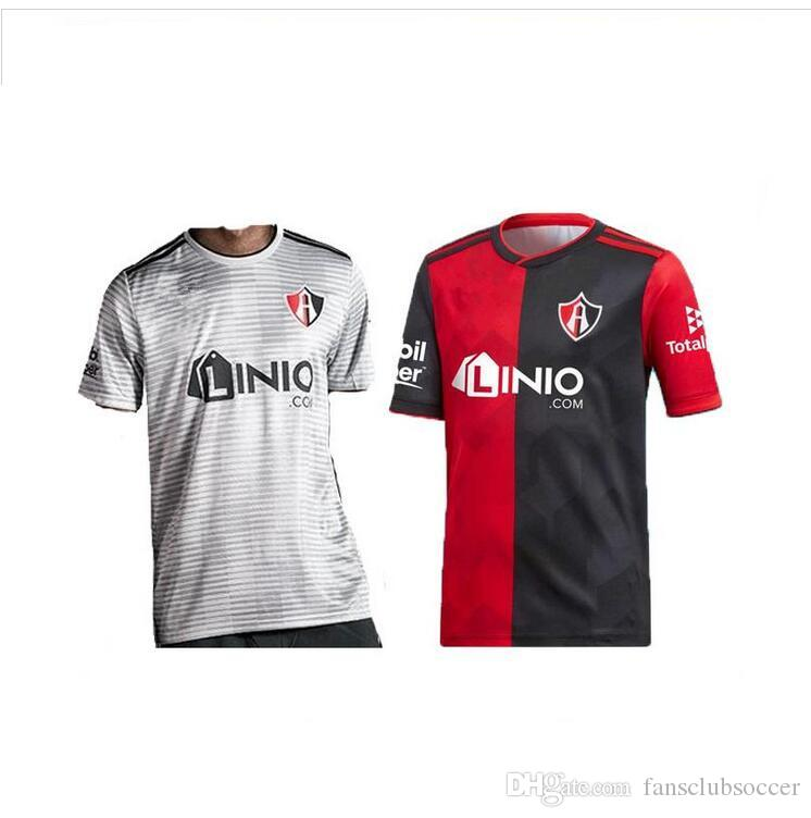 6e8cb597a 2018 19 Mexico Club Atlas FC Soccer Jersey 2019 Home Red Black Away Grey  Soccer Shirt Atlas Football uniform sales