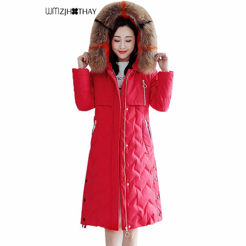 2d584402ddf5 Winter Women Down Jacktet Female Coat Thick Warm Long Section Down ...