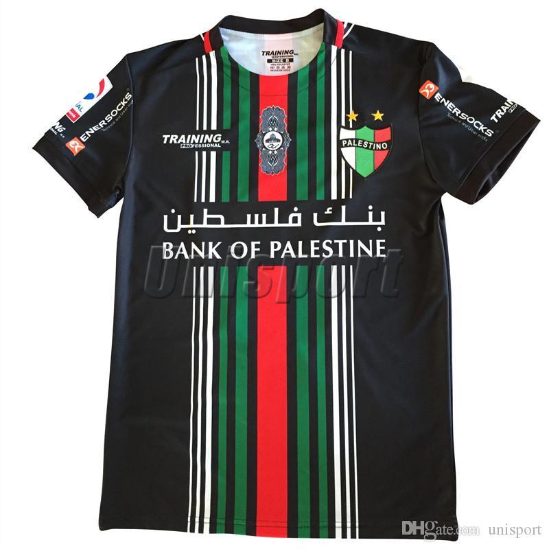8e1cc2e443 Compre 2018 19 Club Deportivo Palestino Camisas De Futebol Chile Futbol  Camisetas Palestino Camisa De Futebol Camisa Kit Maillot De Unisport
