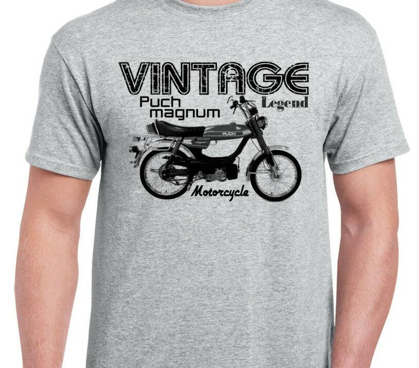 Puch Magnum inspired moped motorcycle classic bike fast fifty shirt  tshirtFunny free shipping Unisex Casual Tshirt top