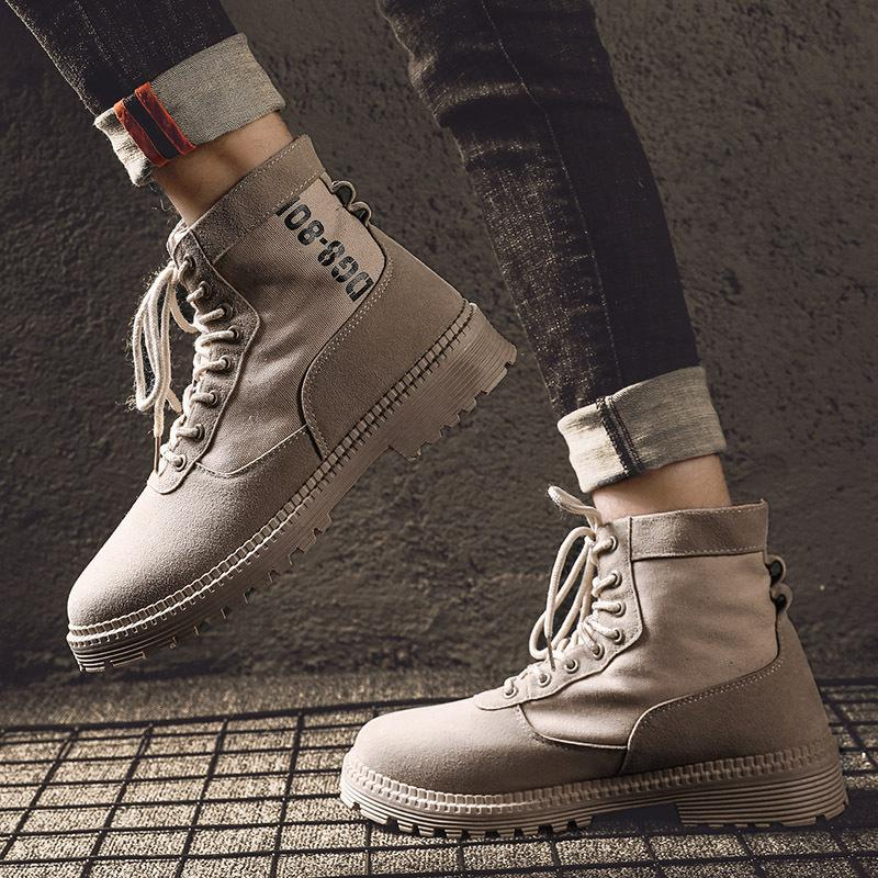 a012024af 2019 Classic Casual Canvas Shoes Mens Martin Boots Ankle Boots For Men  Spring Autumn Winter warm army Shoes