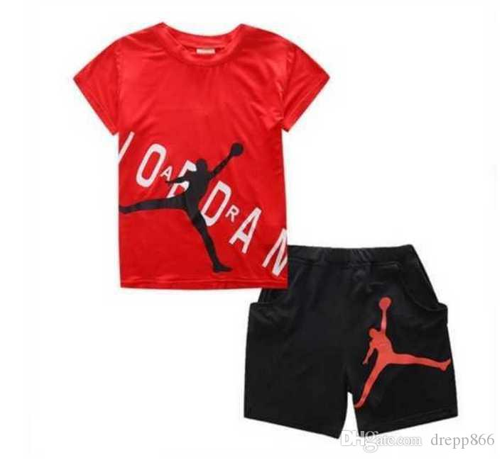 New Hot Retail Summer Brand Boys Clothes Set Boys Sport Suit Children Short-sleeve T-shirt+shorts Pant Girls Clothing Jogging Tracksuit