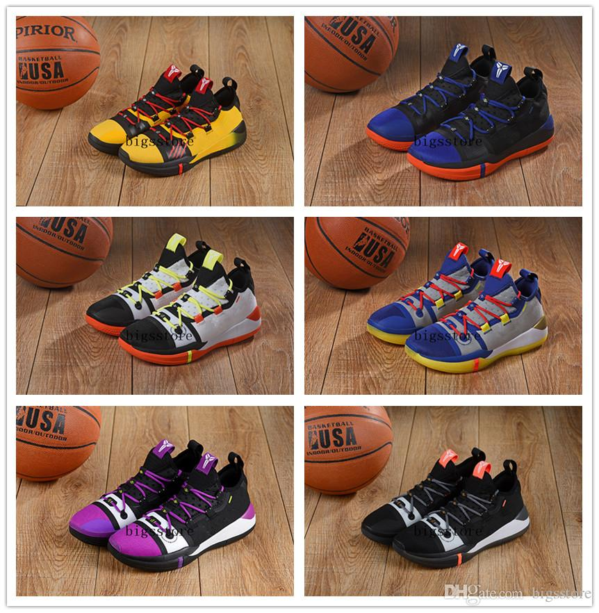 buy online d7da0 df0f3 2019 High Quality Kobe AD EP Mamba Day Sail Multicolor Men Sport Shoes Wolf  Grey Orange Black White Mens Trainers Sports Sneakers 7 12 From Bigsstore,  ...