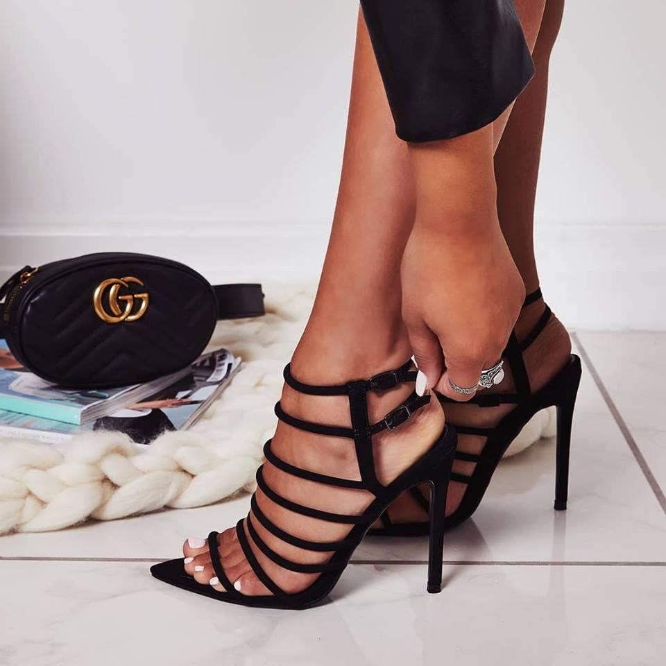 77f4f063ac5 Peep Toe Stiletto High Heel Sandals Ankle Strap Hollow Out Lace Up Design Sexy  Women Sandals Reef Sandals Gold Shoes From Jadenme