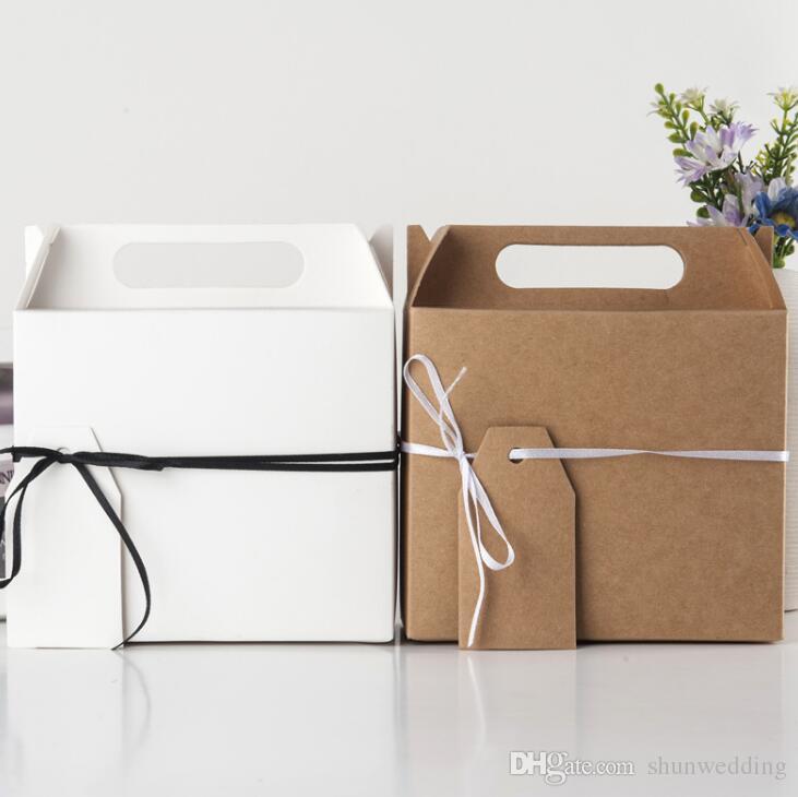 Big Kraft Paper Candy Box Gift Bag Wedding Party Favors Birthday Christmas Supplies Cardboard Boxes White From Shunwedding