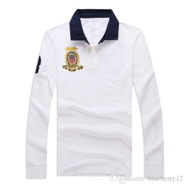 662a997e90d 19SS Mens Brand Polo Shirt Embroidery Print Long Sleeve Polo Turn Down Neck  Golf Shirt 19SS Mens Brand Polo Shirt Long Sleeve Polo Online with   60.9 Piece ...