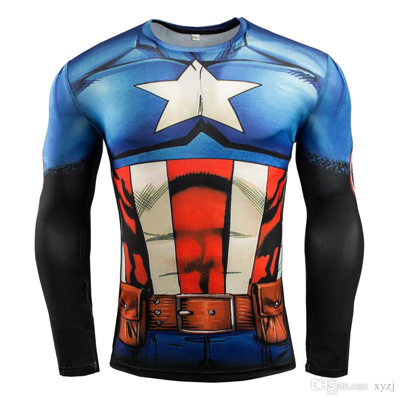 Avengers 4 Outdoor SportswearQuick Dry Breathable Clothes Men Sports Fitness Gym Running Jogging Activewear T-shirts