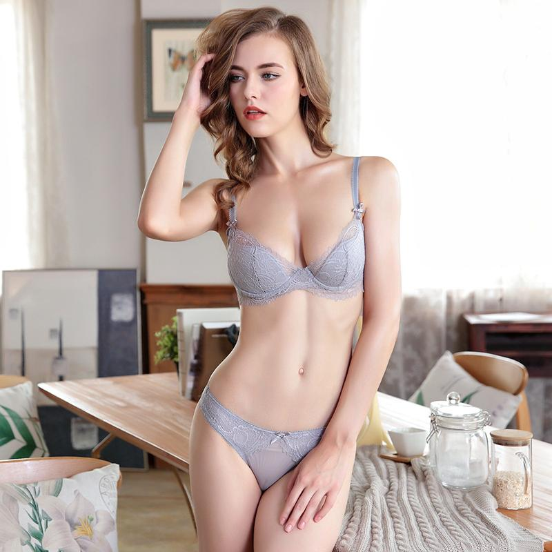 New Sexy Lace Thin Cup Bandage Lingerie Set Charm Seduction Push Up Underwear Women Elegant Breathable Panties Bra Set Back To Search Resultsunderwear & Sleepwears