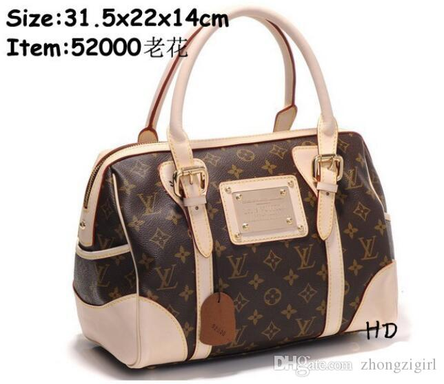 LOUIS VUITTON Designer Handbags Europe And The United States Fashion  Stitching Shoulder Bag Wild Large Capacity Tote Bag Handbag Wholesale  Womens Bags From ... ca3083271112f