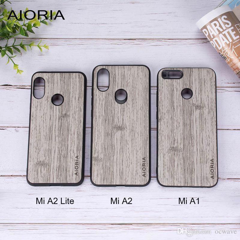 classic fit 3f241 e8d6c Hard case for Xiaomi mi a1 a2 lite 8 se 5c mix 2s max note 3 wood pu  leather covers redmi 6 6a s2 note 5 coque funda