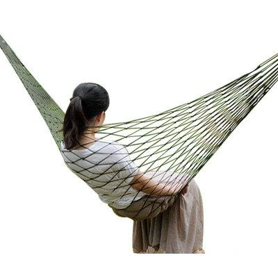Promotion ! 150Kg single mesh garden hammock portable travel camping nylon rope hammock swing autumn lazy chair outdoor