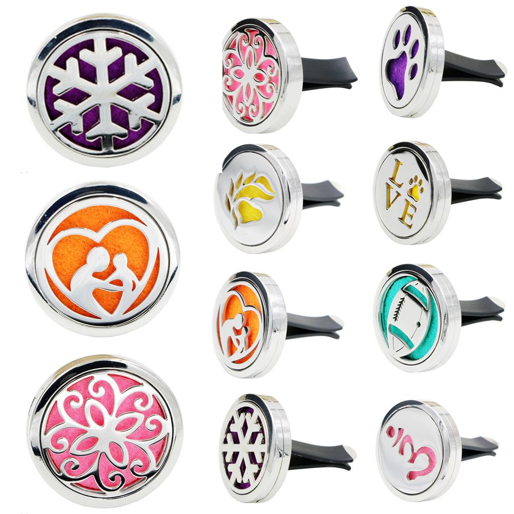 Stainless steel Car Mini Diffuser Locket Vent Clip Air Freshener Essential Oil Toiletry Kits