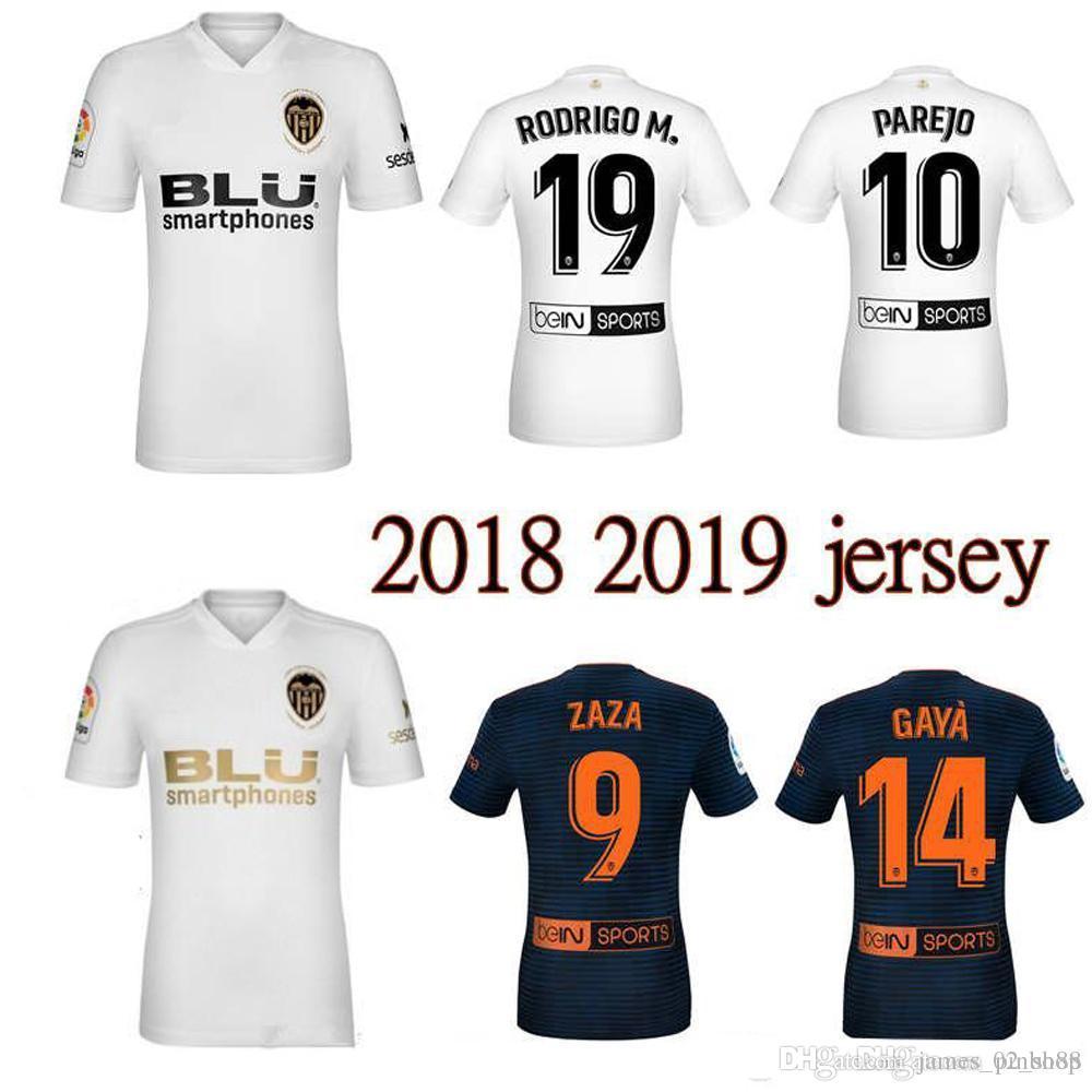 the latest 14b74 a38c8 Valencia CF Soccer Jerseys 2018 2019 Chandal adult home 100th gold logo  Jersey 18 19 shirts away man ZAZA Gaya Kondogbia Guedes FUTBAL