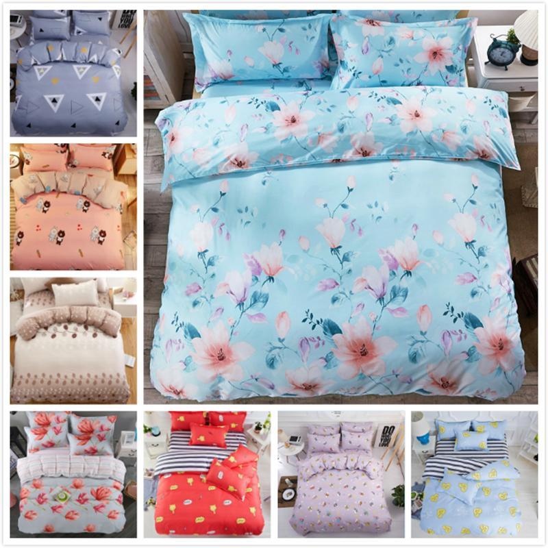 Großhandel Blumenmuster Klassische Quilt Duvet 34 Stücke Bettwäsche