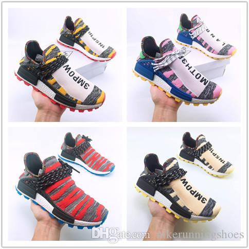 d951097a64b81 Hot!!!Cheap Human Race Trail Running Shoes Men Women Pharrell Williams HU  Runner Yellow Black White Red Green Grey Blue Sports Sneaker 36 47 Best  Shoes For ...