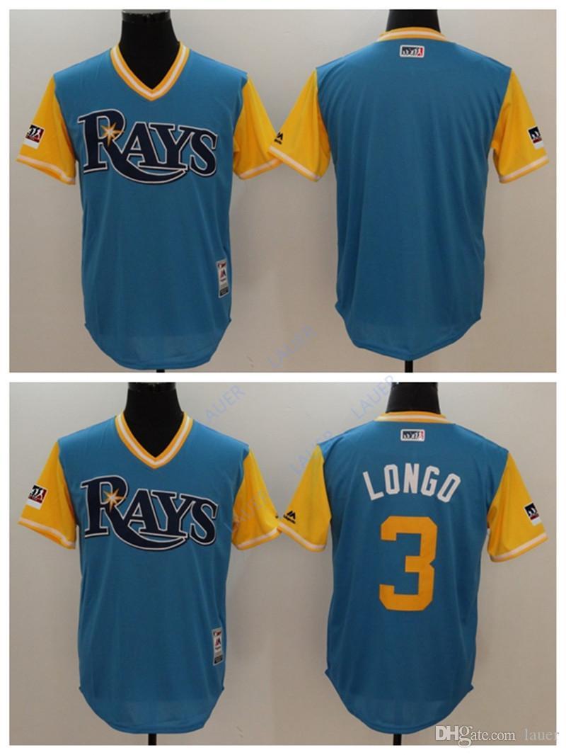 quality design d87fb a8deb Tampa Bay Men Rays Jersey 3 Longo Stitched Nickname Baseball Jerseys
