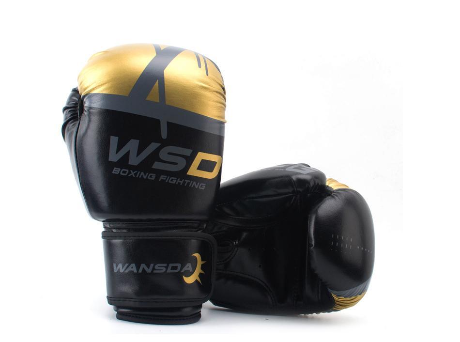 Kick Boxing Gants pour Hommes Femmes PU Karaté Muay Thai Guantes De Boxéo Combat Libre MMA Sanda Formation Adultes Enfants Équipement