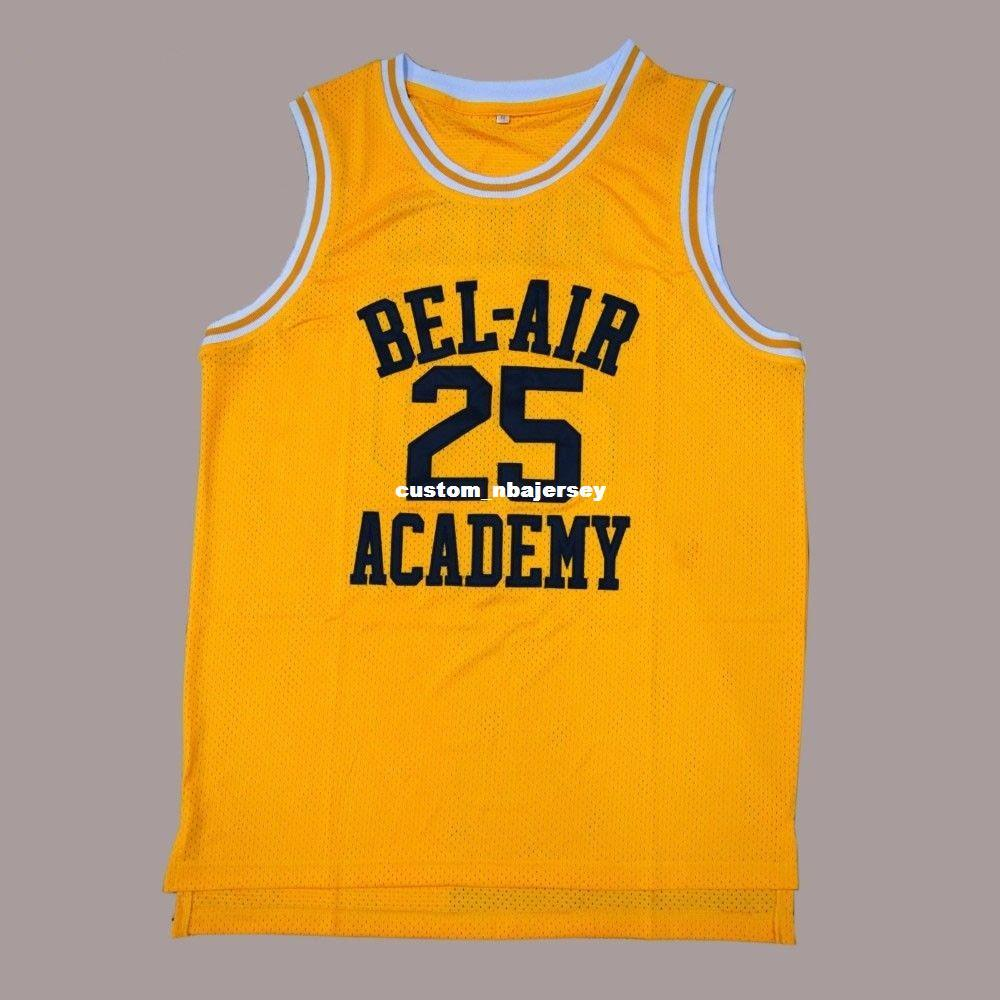 2019 Cheap Custom Fresh Prince Of Bel Air Academy Movie Basketball Jersey  Stitched Yellow Stitch Customize Any Number Name MEN WOMEN YOUTH XS 5XL  From ... d7b076e682