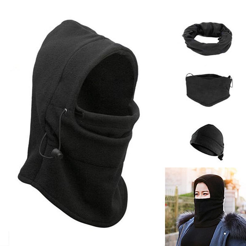 2019 Cycing Winter Warm Fleece Men Half Face Mask Thermal Fleece 6 In 1  Balaclava Hood Face Ski Mask Women Neck Warmer Headwear From Bingquanwat 5312e83bb
