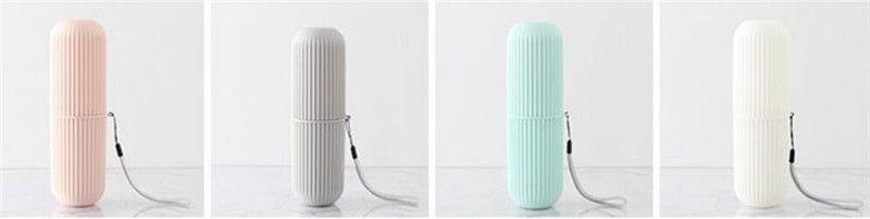Sıcak Ev Bahçe Yaratıcı Taşınabilir Diş Macunu Diş Fırçası Tutucu Kılıf Kaymaz Şerit Germproof Saklama Kutusu Plastik Çift Banyo aksesuarları