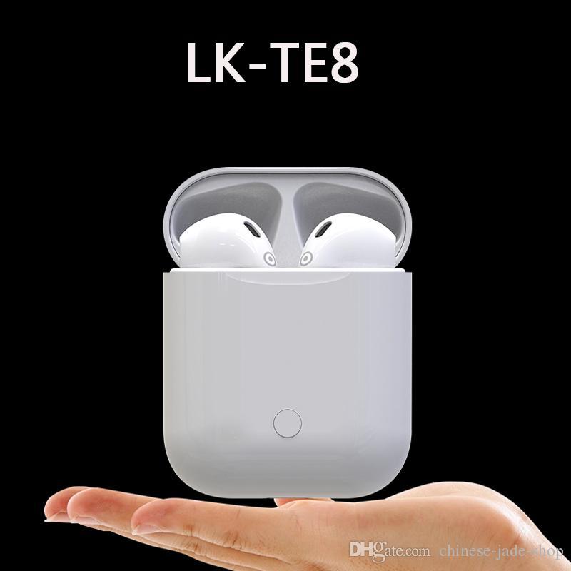Mini Lk Te8 Tws Touch Type Bluetooth 50 Casque Sans Fil Appels Intelligents écouteur Sans Fil Charge Pour Iphone 30pcs Lot