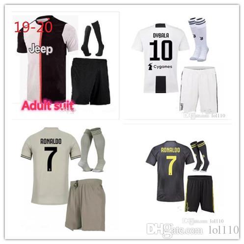 b565ae437 2019 S 2XL 19 20 JUVENTUS Soccer Jersey Kit 2018 2019 DYBALA HIGUAIN  MANDZUKIC D. Costa BUFFON RONALDO Football Shirt Uniform From Lol110