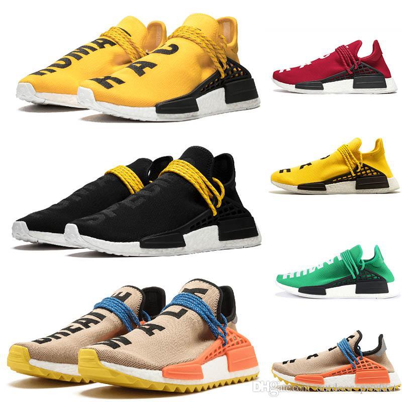 adidas nmd human race hu trail Laufschuhe Nerd black cream Herren Damen Pharrell Williams HU Runner Gelb Weiß Roter Sport Runner Sneaker