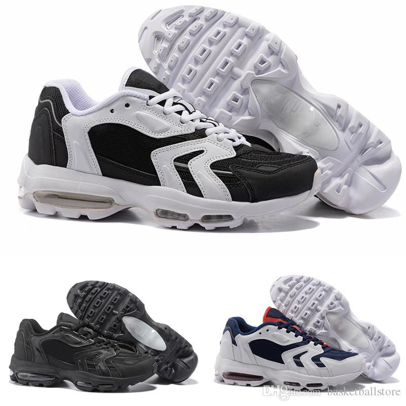 best service b0cc5 98468 Acheter Top Nike Air Max 96 Chaussures De Course Pour Hommes 2018 Coussin  De Mode 96S Noir Multicouleur Bon Marché Hommes Casual Athlétique Baskets  ...