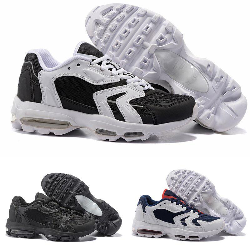 watch d47d1 3c266 Top Nike Air Max 96 Zapatillas Para Hombre 2018 Moda Cushion 96S Negro  Multicolor Barato Para Hombre Zapatillas Deportivas Casuales Envío Gratis  Tamaño 40 ...