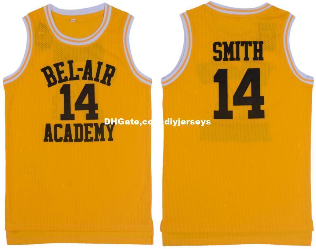 aa5fcb64c 2019 Cheap Customize The Fresh Prince Of Bel Air Academy Retro Basketball  Jerseys  14 Will Smith Yellow MEN WOMEN YOUTH XS 5XL From Diyjerseys