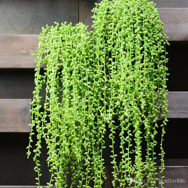 5fork 82cm Artificial fleshiness Lover Tears Succulents Pearls Fleshy Vine Flower Hanging Rattan Wall Garden Decor Plants Flower