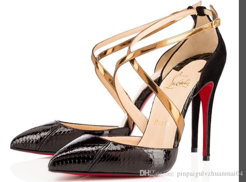 huge selection of d51b1 388fd Christian Louboutin CL Sexy Heels shoes Woman Pointed Toes shoes high heels  Nude 1 Real Leather Pointed Toes Pumps 1 Dress shoes j6