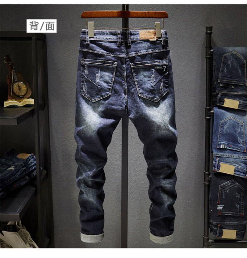Acquista Mens Skinny Jeans New Casual Slim Biker Jeans Denim Knee Hole  Hiphop Strappato Pantaloni Lavato Alta Qualità Vendita Calda Spedizione  Gratuita ... 91d1196476bf