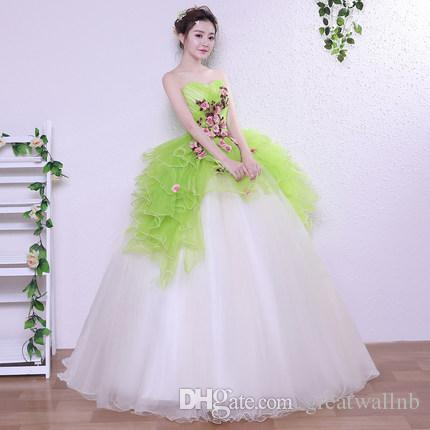 241ff9f05adf6 green ruffled wing flower fairy princess long gown medieval dress cartoon  princess Medieval Renaissance Gown queen cosplay Victoria dress